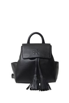 TORY BURCH Tory Burch Leather Backpack With Tassels. #toryburch #bags #leather #backpacks