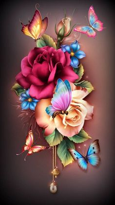 Summer Flowers wallpaper by Sixty_Days - - Free on ZEDGE™ Rose Flower Wallpaper, Wallpaper Nature Flowers, Flowery Wallpaper, Beautiful Landscape Wallpaper, Butterfly Wallpaper Iphone, Flower Background Wallpaper, Beautiful Flowers Wallpapers, Cute Wallpaper Backgrounds, Love Wallpaper