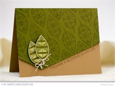 Geometric Greenery Stamp Set and Die-namics, Stitched Scallop Basic Edges Die-namics - Debbie Olson  #mftstamps