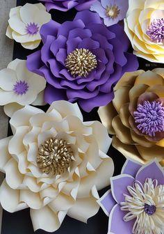 Loopy SVG corte de centro de flores de papel archivo patrón