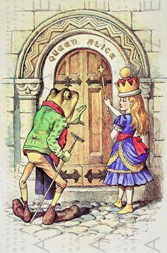 Alice In Wonderland John Tenniel-Lewis Carroll-Alice-Nursery-Home deco Lewis Carroll, Queen Alice, Alice In Wonderland Illustrations, Sphinx, Chesire Cat, John Tenniel, Doodle, Adventures In Wonderland, Children's Book Illustration