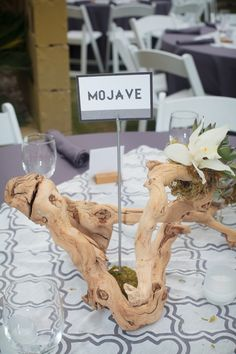 Unique wedding table numbers; places the bride and groom have been instead of numbers! Image: Taylored Photo Memories