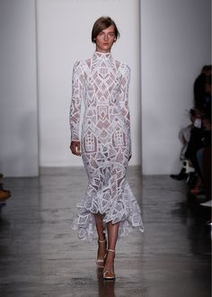 Longsleeve Tower Lace Gown