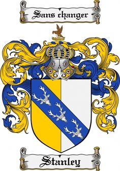 Stanley Coat of Arms Stanley Family Crest Instant Download - for sale, $7.99 at Scubbly