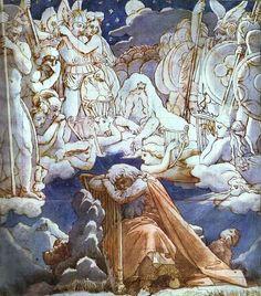 Les Chansons d Ossian, encre de Jean Auguste Dominique Ingres (1780-1867, France), 1813.