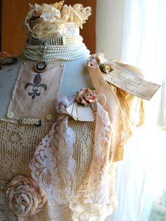 """Embellished """"St. Joan"""" dress form ... found at noellegarrettdesigns.com"""