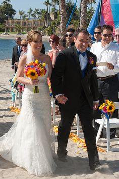 "It's official! Repin if you ""Like""! Click www.rksshots.com #RksPhotography #SanDiegoPhotography #BahiaResortHotel #Wedding #ChristaAndJoe"