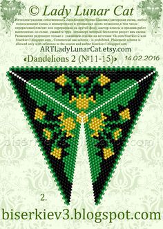 """Schemes for beading from the Lady Cats (Lady Lunar Cat): Scheme """"Dandelions"""" / Scheme """"Dandelions"""""""