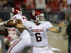 Watch  Baker Mayfield plants Oklahoma flag on Buckeyes  logo  1bcea1794ef0b