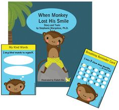 Activities, books and resources for parents, teachers, therapists to help children deal with anxiety Happy Again, Deal With Anxiety, Parent Resources, Kind Words, Feeling Happy, Monkey, Family Guy, Parenting, Plant