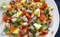 Csirkés saláta gazdagon recept fotóval
