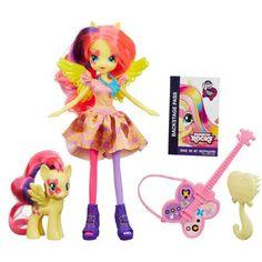 My Little Pony Equestria Girls Rainbow Rocks Fluttershy Doll and Pony Set