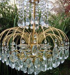 8 Tier Crystal Prism Chandelier Wedding Cake Large Elegant Waterfall light