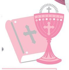 first holy communion room decorating kit pink 10 pieces