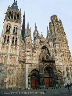 the Gothic Notre Dame Cathedral, Rouen