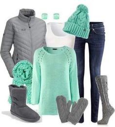 Mint green fall style