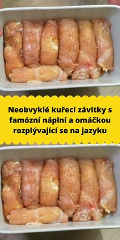 Neobvyklé kuřecí závitky s famózní náplní a omáčkou rozplývající se na jazyku Chorizo, Slovak Recipes, Chicken Parmesan Recipes, Best Dinner Recipes, Food Platters, Food Humor, How To Cook Chicken, Baking Recipes, Food Porn