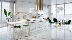 51 Luxury Kitchens And Tips To Help You Design And Accessorize Yours Be inspired by this gallery of amazing luxury kitchen designs, filled with beautiful kitchen cabinets, kitchen layouts, designer faucets and modern appliances. Luxury Kitchen Design, Kitchen Room Design, Luxury Kitchens, Home Decor Kitchen, Interior Design Kitchen, Kitchen Furniture, Kitchen Layouts, Kitchen Ideas, Kitchen Upgrades