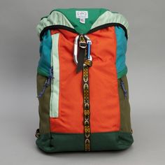 Epperson Mountaineering Large Climb Pack in Kelly Green/Mandarin