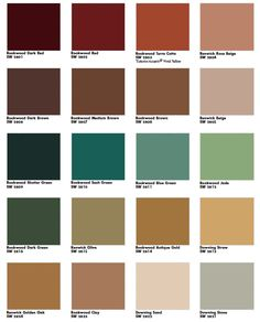 Georgian palette (Heritage Georgian color examples) 1714 - 1837