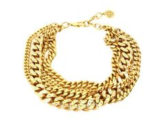 So beautiful! Statement necklace: Ben Amun | Gold Chain Torsade Necklace with Crystals | AHAlife #21StepsStyleCourse