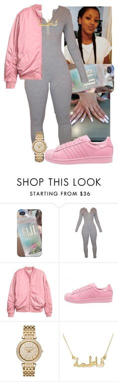 """I like this❤️"" by fashionismypashion476589 ❤ liked on Polyvore featuring H&M, adidas and Michael Kors"