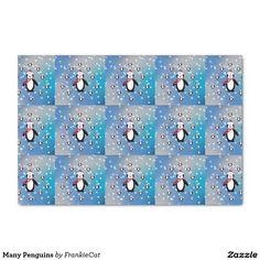 "Many Penguins 10"" X 15"" Tissue Paper"