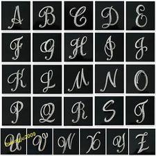 Estilo retro del Rhinestone Crystal letras inglesas boda ramo de novia broche del Pin