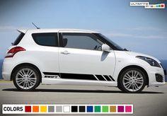 Sticker Decal Vinyl Side Door Stripes for Suzuki Swift Sport LED Light Handle Vw Fox, Suzuki Swift Sport, Volkswagen Polo, Sport Seats, Racing Stripes, Decal, Sticker, Vinyl Siding, Side Door