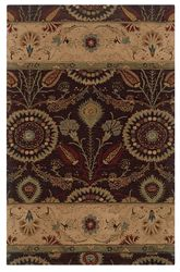 Bombay Kerala Brown 5X8 - Area Rug Crafted from 100% New Wool, hand tufted.