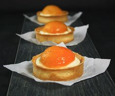 Apricot Tarts-Amaretto-Crème Chiboust   #food52 #saveur #summerfoodfights