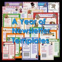 Newsletter Templates - Bundle of 52 Ready to Use Templates Time-saving! Pta School, School Themes, School Days, Back To School, School Stuff, Teaching 5th Grade, Teaching Tools, Upper Elementary, Elementary Schools