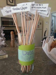 Date night jar. #date #watchwigs www.youtube.com/wigs
