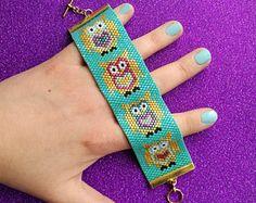 Peyote Stitch Cuff Bracelet PDF Pattern  Colourful Argyle