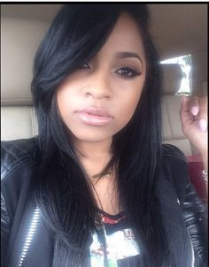 Toya Wright Face Paint and hair Toya Wright, Relaxed Hair, Sleek Hair, Weave Hairstyles, Straight Hairstyles, Protective Hairstyles, Short Hairstyle, Everyday Hairstyles, Black Hairstyles
