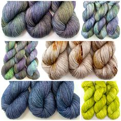 Some recent additions at CKY Yarn Shop, Hand Dyed Yarn, Crochet Projects, Knit Crochet, Stitch, Knitting, Kitchen, Beautiful, Color