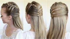 Half Up Mermaid Braided Hair How-to Video Tutorial by Melissa Cook