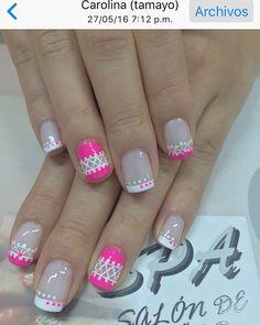 Uñas French Nails, Ring Finger, Pretty Nails, Nail Designs, Nail Art, Makeup, Beauty, Art Nails, Nail Bling