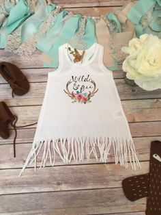Boho Baby Clothes, Wild and Free Baby Fringe Dress, Cute Baby Clothes, Baby Girl…