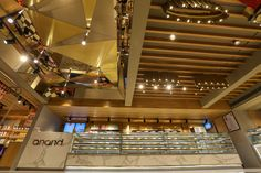 Anand Old Airport road, Bengaluru - RAVISH MEHRA DEEPAK KALRA ARCHITECTS Retail Experience, Retail Store Design, Restaurant Interior Design, Colorful Furniture, Cladding, Architects, Minimalism, Commercial, Ceiling