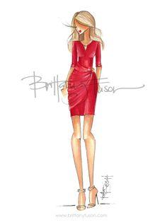 Valentine's Day | little red dress | fashion illustration | Brittany Fuson