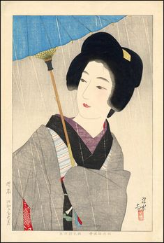 shinsui ito - drizzling rain