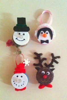 tea light ornaments | tea light magnet/ornaments | crafts | Pinterest