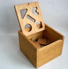 Vintage Wooden Toy, Made in Holland, 15 Wooden Blocks. 1970's door VasioniVintage op Etsy