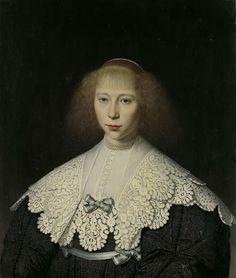 Dirck Dircksz van Santvoort, 1637 - Agatha Geelvinck First wife of Frederik - art print, fine art reproduction, wall art Fashion History, Fashion Art, Isabel I, Amsterdam, Dutch Golden Age, Dutch Artists, Glamour, Historical Costume, Historical Dress