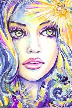 Fantasy Woman Face: Sea Memory | EvitaWorks
