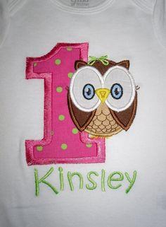 Custom Boutique Owl Birthday Applique tshirt   by LollysSewingRoom, $23.00