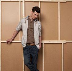 Men's casual style.  Vincent LaCrocq by Ignacio Lozano for Pull & Bear 2012