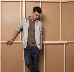 Men's casual style.  Vincent LaCrocq by Ignacio Lozano for Pull & Bear 2012