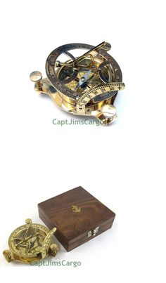 Valentine Sundial With Compass Nautical Maritime Compasses With Box Wooden De